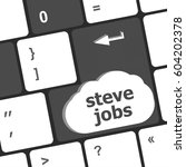 Stock photo steve jobs button on keyboard life concept 604202378