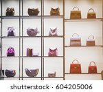 luxury purses in a fashion... | Shutterstock . vector #604205006