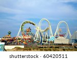 amusement park rides with copy... | Shutterstock . vector #60420511
