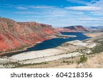 flaming gorge national... | Shutterstock . vector #604218356