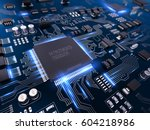high tech electronic pcb ... | Shutterstock . vector #604218986
