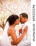 happy married couple. | Shutterstock . vector #604222196