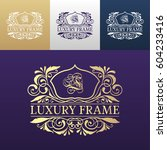 luxury label or king place...   Shutterstock .eps vector #604233416