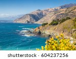 scenic view of the rugged... | Shutterstock . vector #604237256