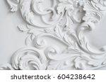 luxury white wall design bas... | Shutterstock . vector #604238642