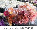 beautiful fresh flowers in... | Shutterstock . vector #604238852