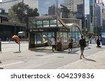 sao paulo  brazil   october 23  ... | Shutterstock . vector #604239836