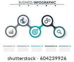 abstract infographics number... | Shutterstock .eps vector #604239926