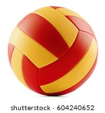 leather volleyball isolated on... | Shutterstock . vector #604240652