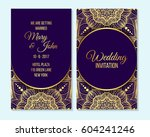 wedding invitation  thank you... | Shutterstock .eps vector #604241246