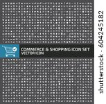 commerce and shopping icon set... | Shutterstock .eps vector #604245182