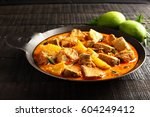 tasty king fish curry made of... | Shutterstock . vector #604249412