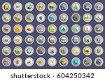 set of icons. states of usa... | Shutterstock .eps vector #604250342