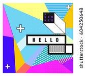 trendy vector summer cards...   Shutterstock .eps vector #604250648