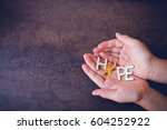 hope with yellow gold ribbons...   Shutterstock . vector #604252922