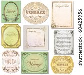 vector set vintage labels 6 | Shutterstock .eps vector #60425956