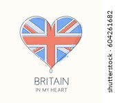 heart shape with flag of united ...   Shutterstock .eps vector #604261682