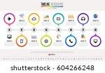 timeline infographics design...   Shutterstock .eps vector #604266248