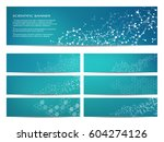 set of modern scientific... | Shutterstock .eps vector #604274126
