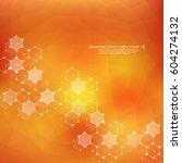 hexagonal molecule dna.... | Shutterstock .eps vector #604274132