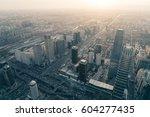 overlook the whole city beijing | Shutterstock . vector #604277435