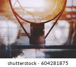 view from bottom of basketball... | Shutterstock . vector #604281875