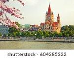 church heiliger franz of assisi ...   Shutterstock . vector #604285322