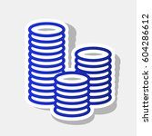 money sign illustration. vector.... | Shutterstock .eps vector #604286612