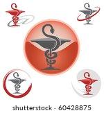 set of logos with caduceus... | Shutterstock .eps vector #60428875