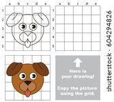 copy the picture using grid... | Shutterstock .eps vector #604294826