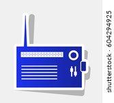 radio sign illustration. vector....