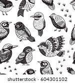 seamless pattern with cute... | Shutterstock .eps vector #604301102