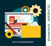 data management conceptual... | Shutterstock .eps vector #604304732
