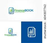 finance book logo template... | Shutterstock .eps vector #604307762