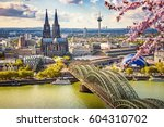 aerial view of cologne at... | Shutterstock . vector #604310702