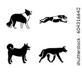 dogs vector icons | Shutterstock .eps vector #604316642