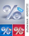 3d percentage symbol with tag... | Shutterstock .eps vector #604320722