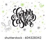 vector hand lettering greetings ...   Shutterstock .eps vector #604328342