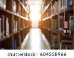 blur image of picture library... | Shutterstock . vector #604328966