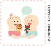 cute baby.vector illustration | Shutterstock .eps vector #604333358