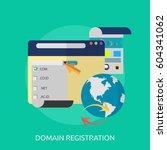 domain registration conceptual... | Shutterstock .eps vector #604341062