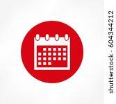 calendar icon | Shutterstock .eps vector #604344212