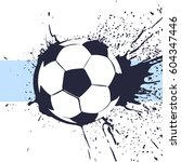 beautiful football ball... | Shutterstock .eps vector #604347446
