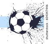beautiful football ball... | Shutterstock .eps vector #604347446