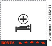 hospital icon flat. simple... | Shutterstock .eps vector #604352456