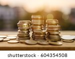 saving money and account... | Shutterstock . vector #604354508