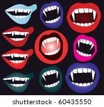 set of vampire mouth in vector | Shutterstock .eps vector #60435550