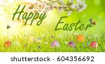 Happy Easter Holiday Backgroun...