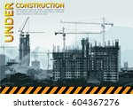 construction site | Shutterstock .eps vector #604367276