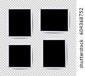 set of vector photo frames... | Shutterstock .eps vector #604368752